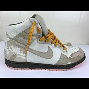 Nike Dunk HI 1 Piece White Khaki Pink Ice Size 10